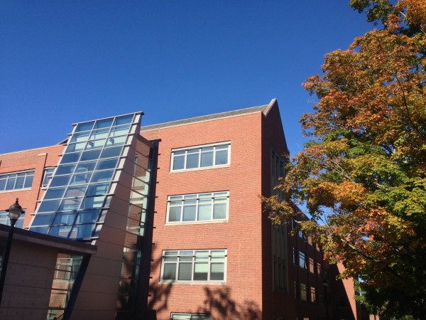 Austin building on Storrs campus in fall